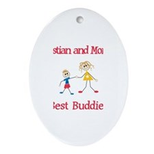 Sebastian & Mommy - Buddies Oval Ornament
