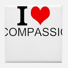 I Love Compassion Tile Coaster