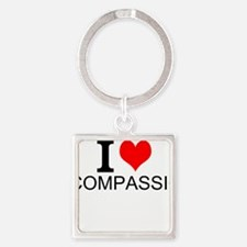 I Love Compassion Keychains
