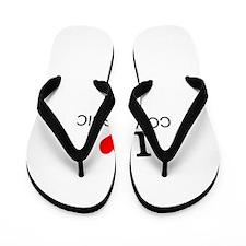 I Love Compassion Flip Flops