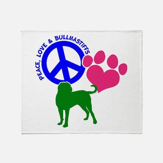 P,L,BULLMASTIFF Throw Blanket