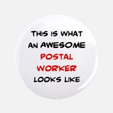 awesome postal worker Button