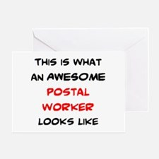 awesome postal worker Greeting Card