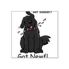 "Cool Newfie Square Sticker 3"" x 3"""