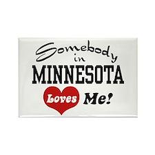 Somebody in Minnesota Loves Me Rectangle Magnet