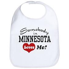 Somebody in Minnesota Loves Me Bib