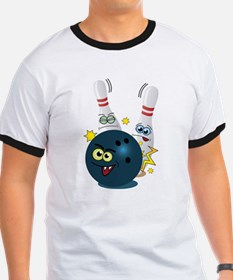 Cute Whimsical bowling T