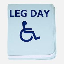 Leg Day Wheelchair baby blanket