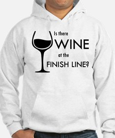 Is There Wine At The Finish Line Hoodie