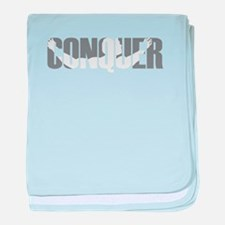 Conquer baby blanket