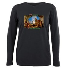 Cute Nativity Plus Size Long Sleeve Tee