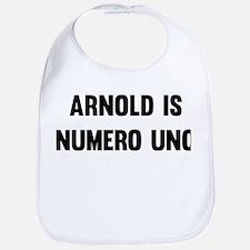 Arnold Is Numero Uno Bib