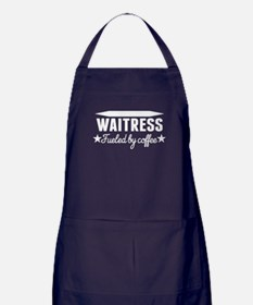 Waitress Fueled By Coffee Apron (dark)