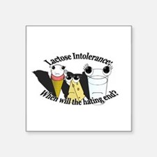 "Cute Milk intolerance Square Sticker 3"" x 3"""