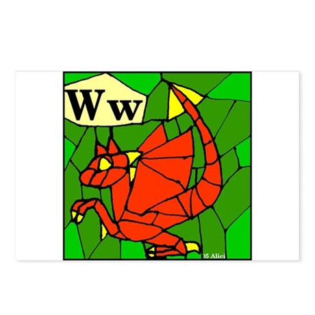 W is for Wyvern Postcards (Package of 8)