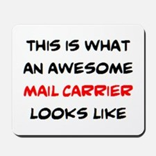 awesome mail carrier Mousepad