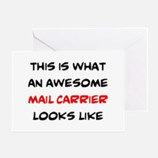 awesome mail carrier Greeting Card