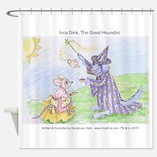 """Inca Dink, The Great Houndini"" (TM) Shower Curtai"