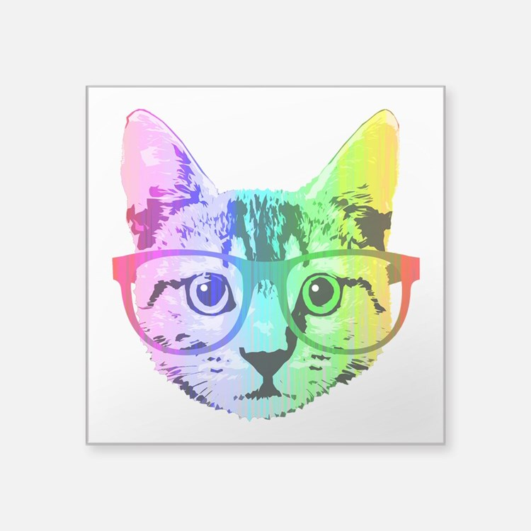 Funny Rainbow Cat Sticker