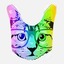 Funny Rainbow Cat Bib