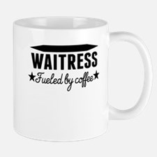 Waitress Fueled By Coffee Mugs