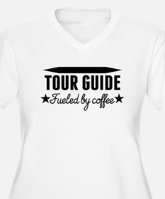 Tour Guide Fueled By Coffee Plus Size T-Shirt