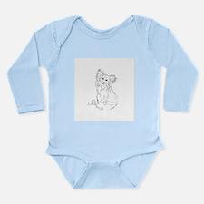 """Playful Papillion"" do Long Sleeve Infant Bodysuit"
