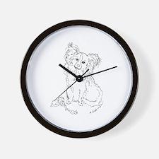 """Playful Papillion"" dog Wall Clock"