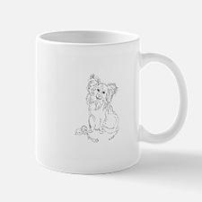 """Playful Papillion"" dog Mug"