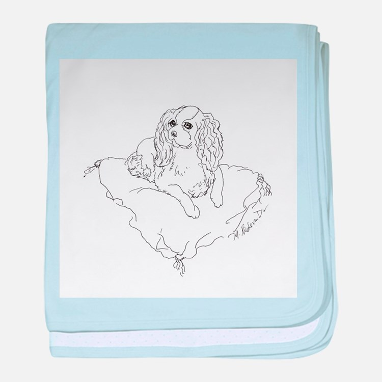 "'Cavalier King Charles Spaniel"" dog baby blanket"