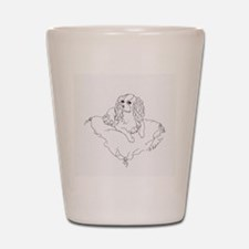 "'Cavalier King Charles Spaniel"" dog Shot Glass"