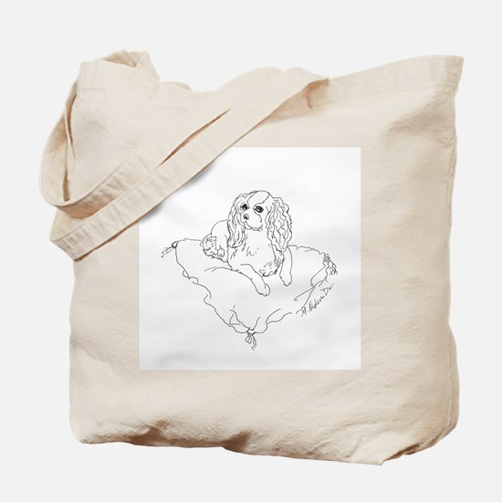 "'Cavalier King Charles Spaniel"" dog Tote Bag"