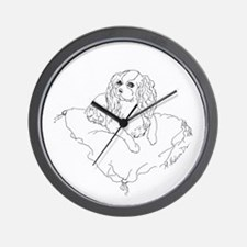 "'Cavalier King Charles Spaniel"" dog Wall Clock"