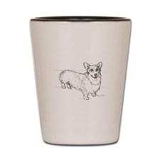 Welsh Corgi dog Shot Glass