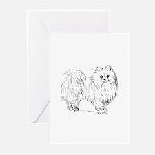 """Pomeranian"" dog Greeting Cards (Pk of 20)"