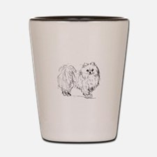 """Pomeranian"" dog Shot Glass"
