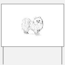 """Pomeranian"" dog Yard Sign"