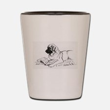 """Leonberger Dog Reading"" Shot Glass"