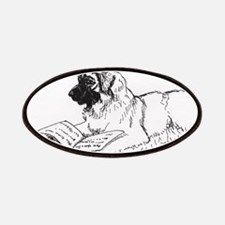 """""""Leonberger Dog Reading"""" Patches"""