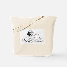 """""""Leonberger Dog Reading"""" Tote Bag"""