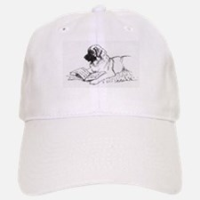 """Leonberger Dog Reading"" Baseball Baseball Cap"