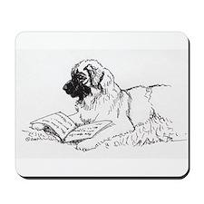"""Leonberger Dog Reading"" Mousepad"