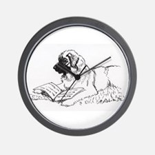"""Leonberger Dog Reading"" Wall Clock"