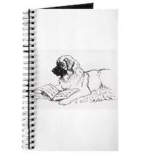 """Leonberger Dog Reading"" Journal"