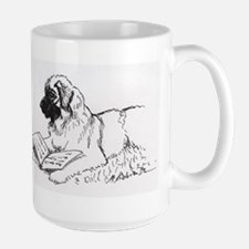 """Leonberger Dog Reading"" Mug"