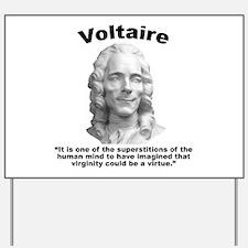 Voltaire Virginity Yard Sign