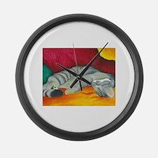 catnap.jpg Large Wall Clock