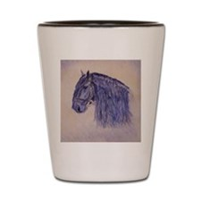 Friesian Horse Shot Glass
