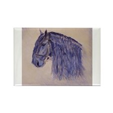 Friesian Horse Rectangle Magnet
