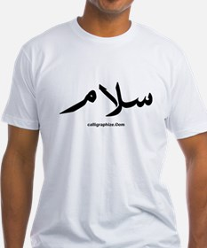 Salam t shirts shirts tees custom salam clothing Arabic calligraphy shirt